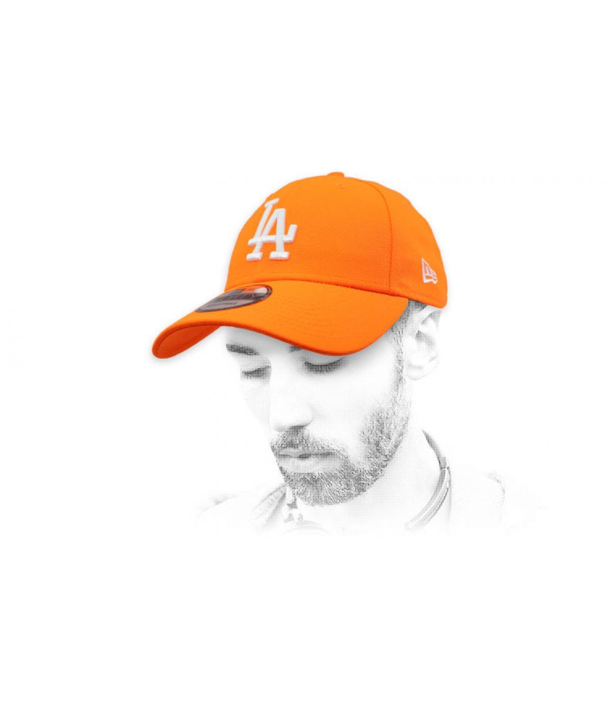 gorra LA naranja