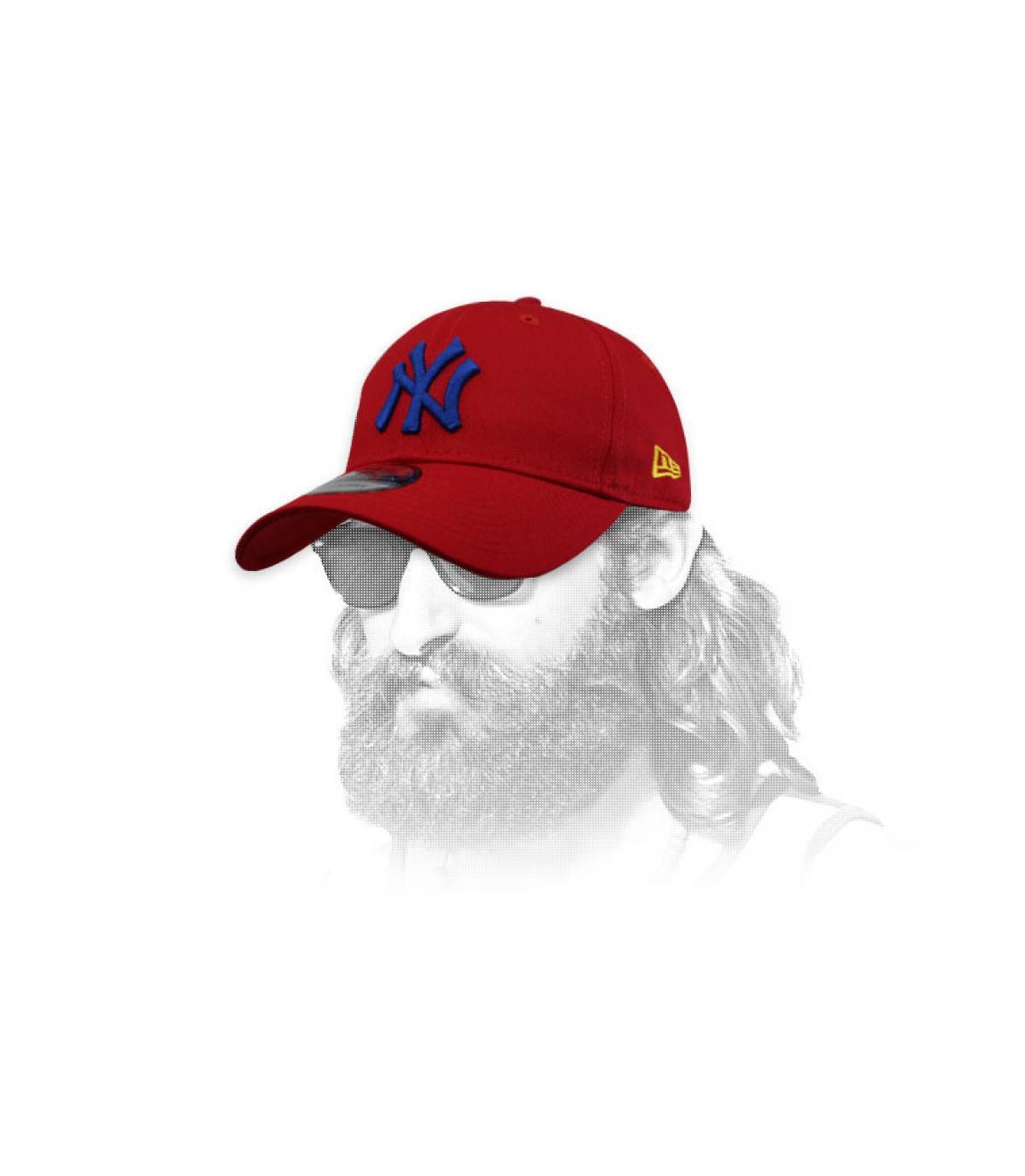 gorra NY rojo azul