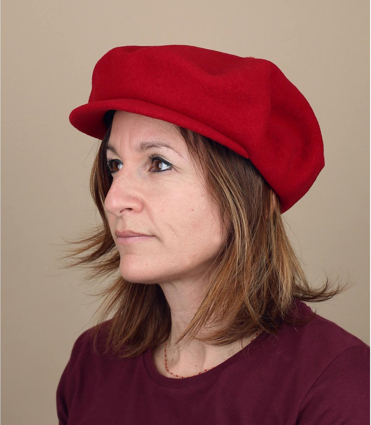 gorra repartidor rojo lana