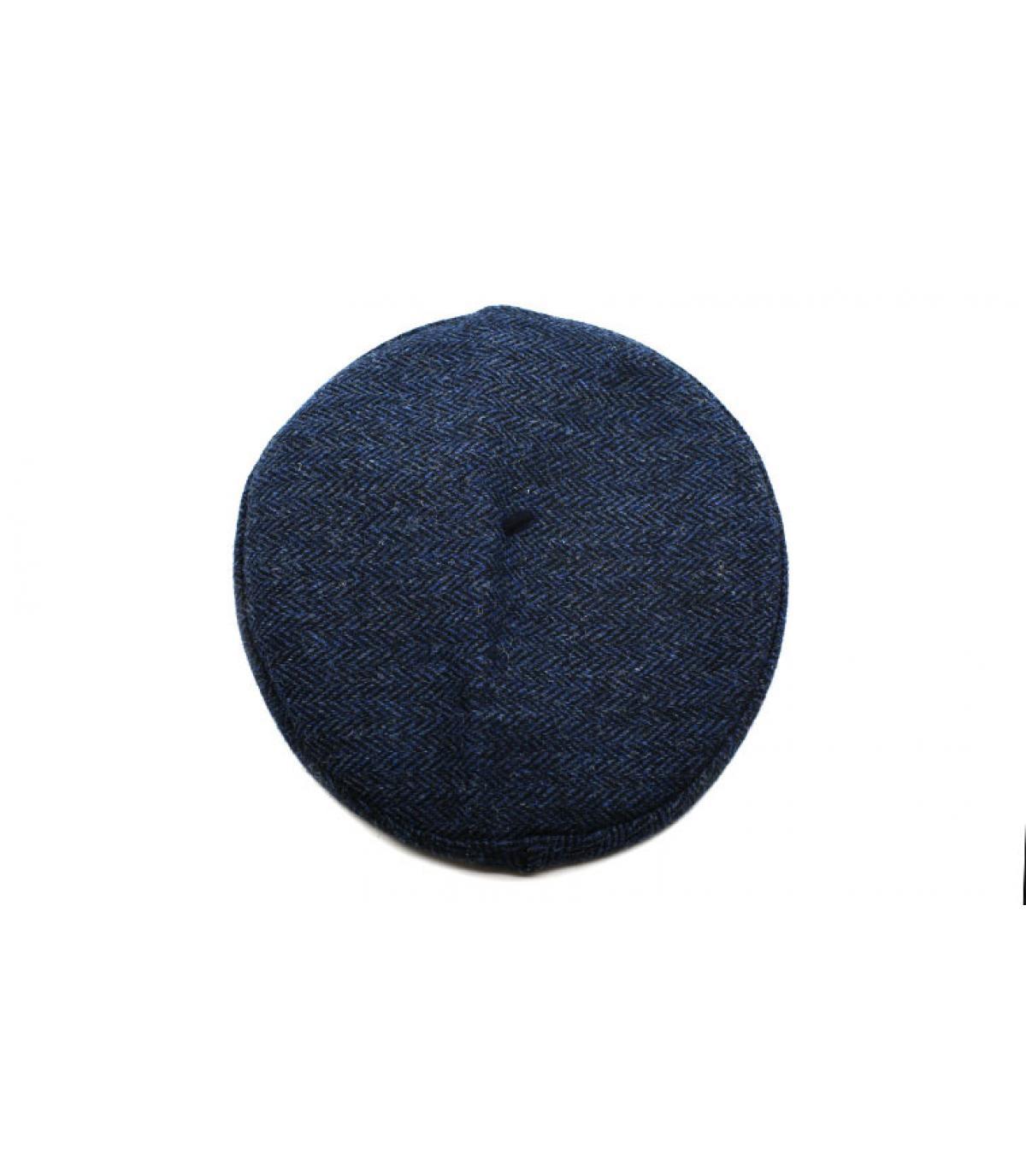 boina azul tweed