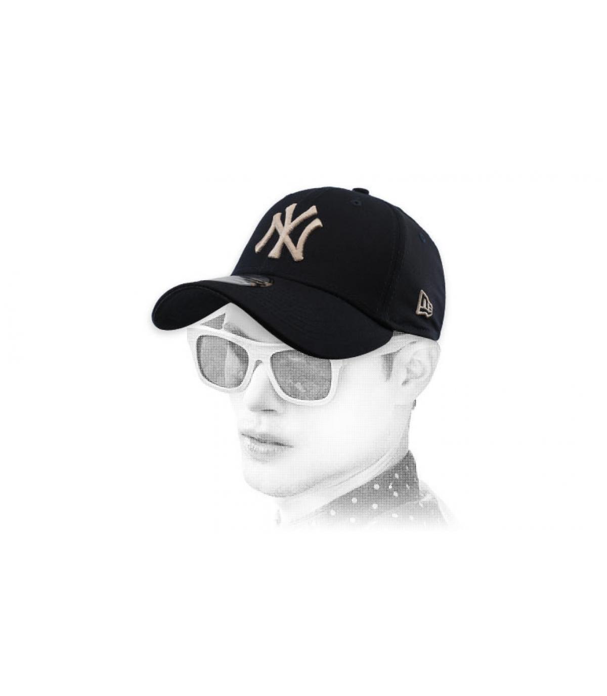 gorra NY negro stretch