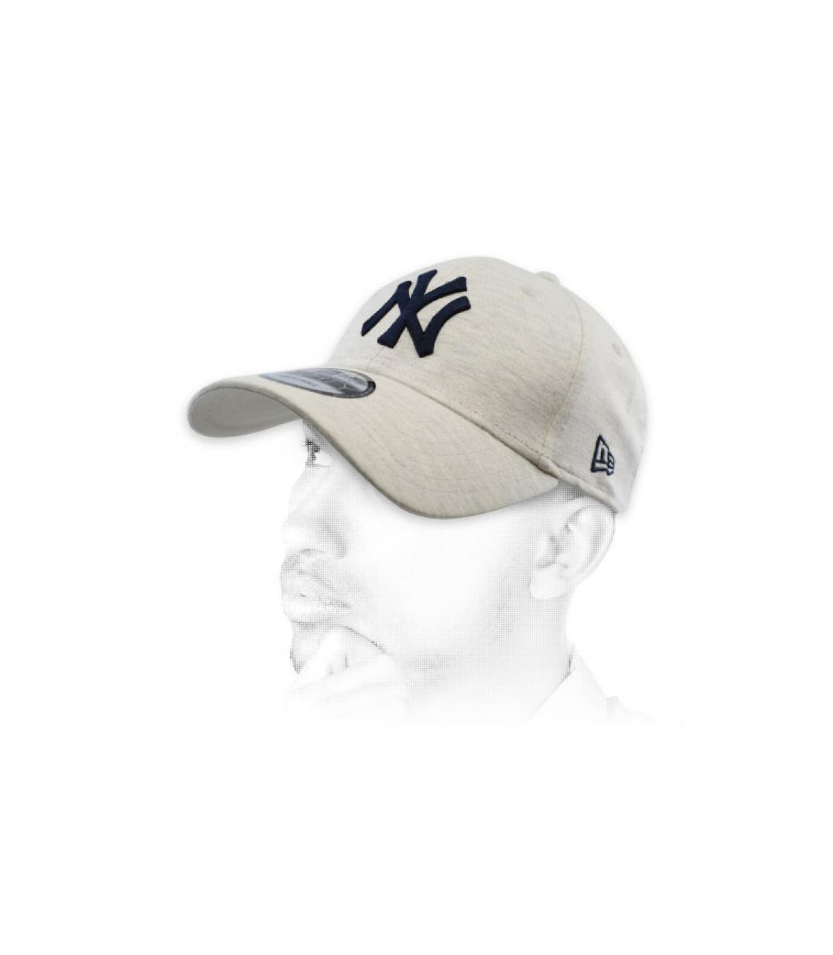 gorra NY gris azul