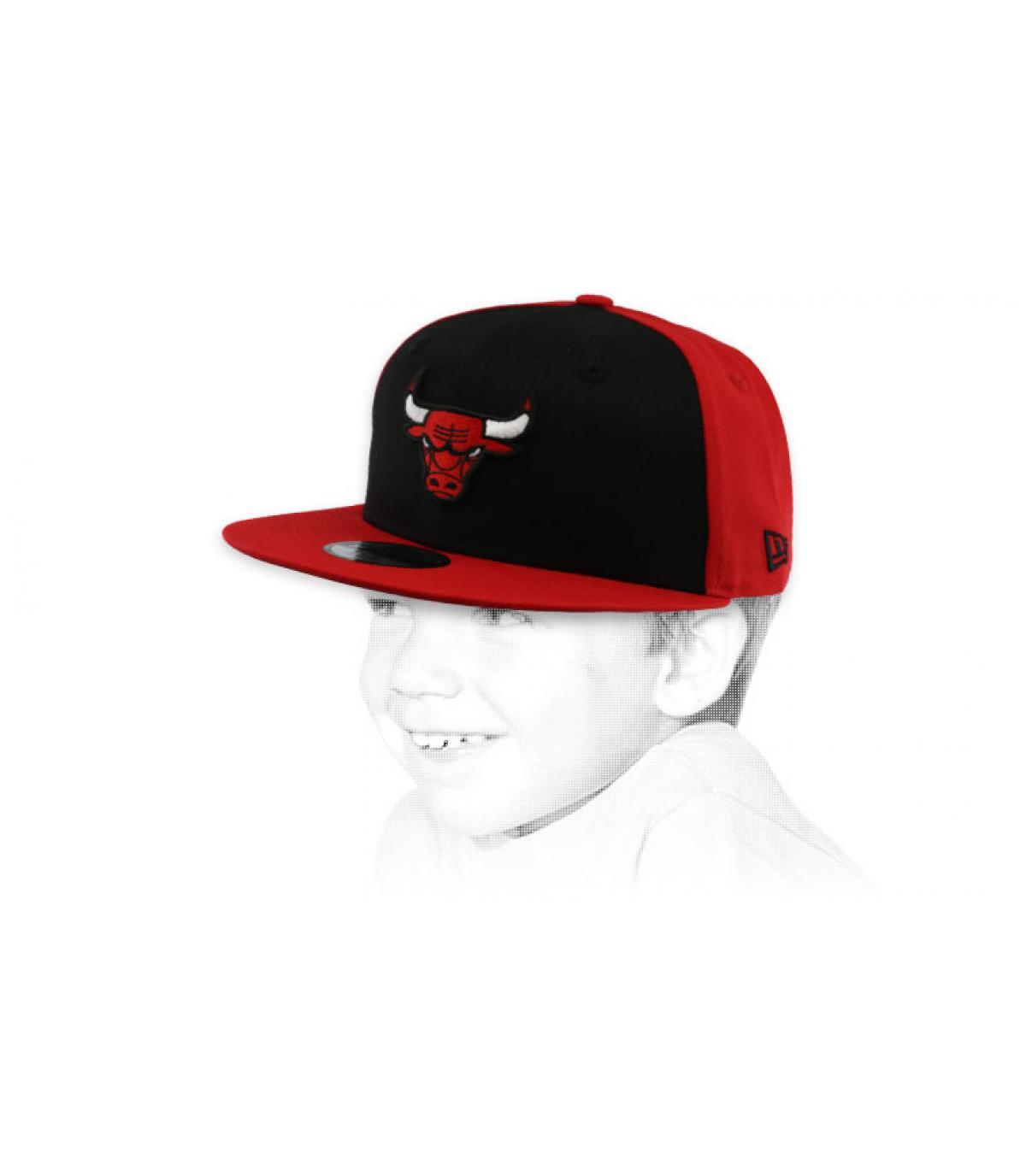 snapback Bulls rojo negro