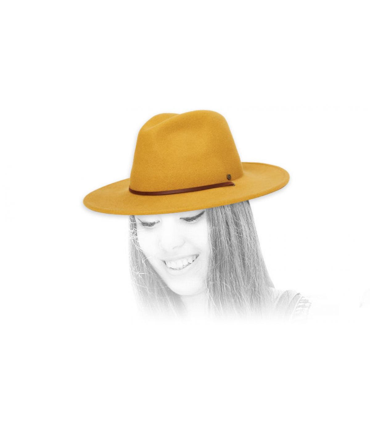 fedora amarillo Brixton