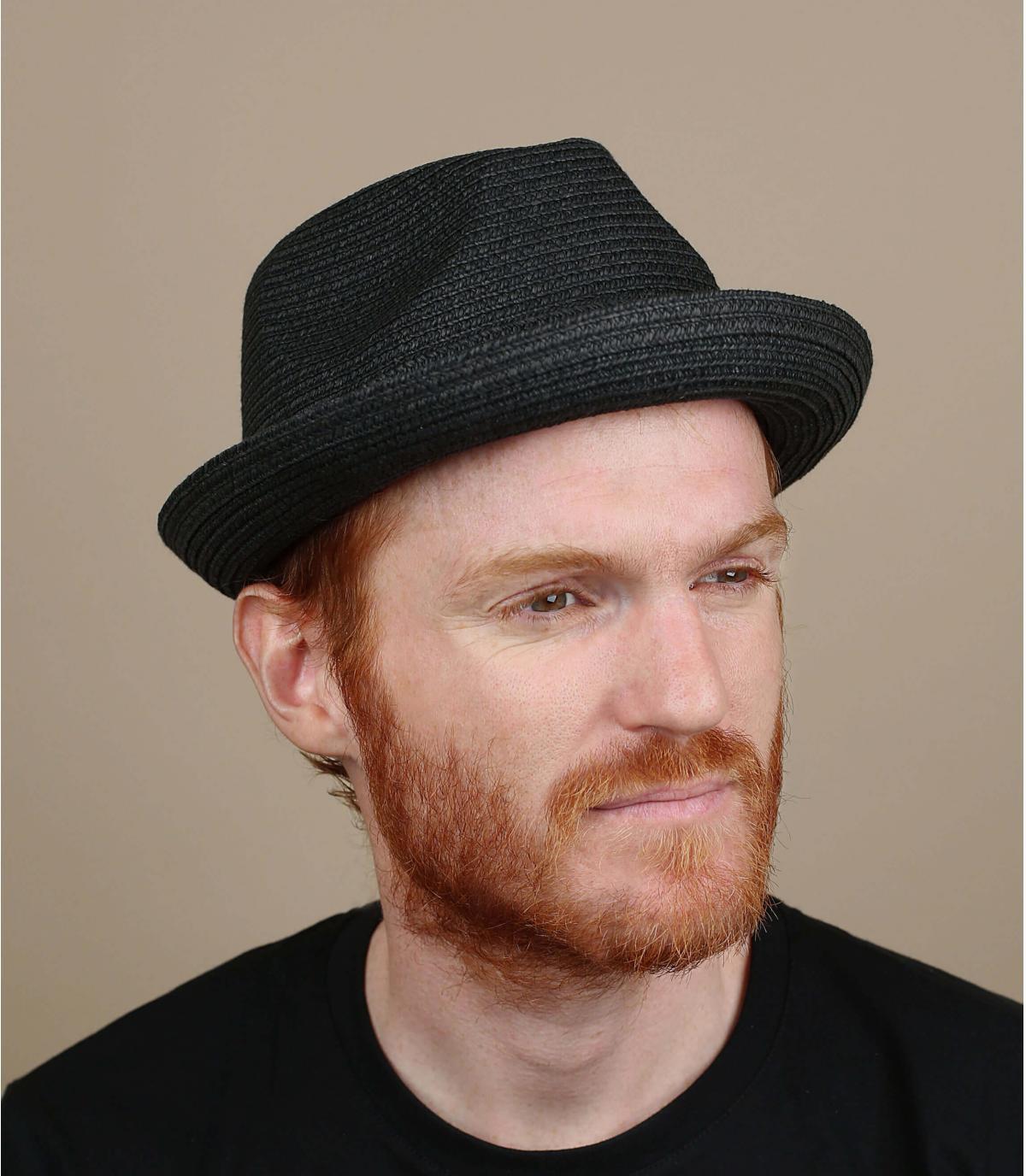 Sombrero Bailey paja negro