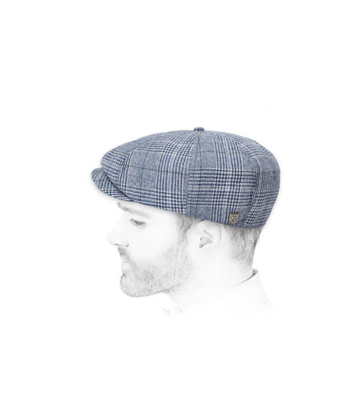gorra repartidor azul