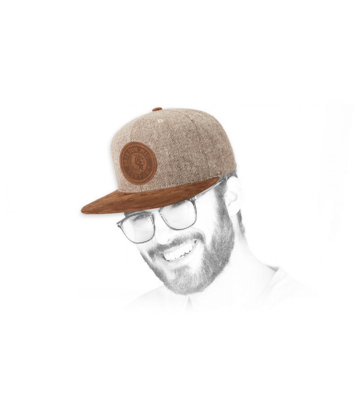snapback marrón Brixton