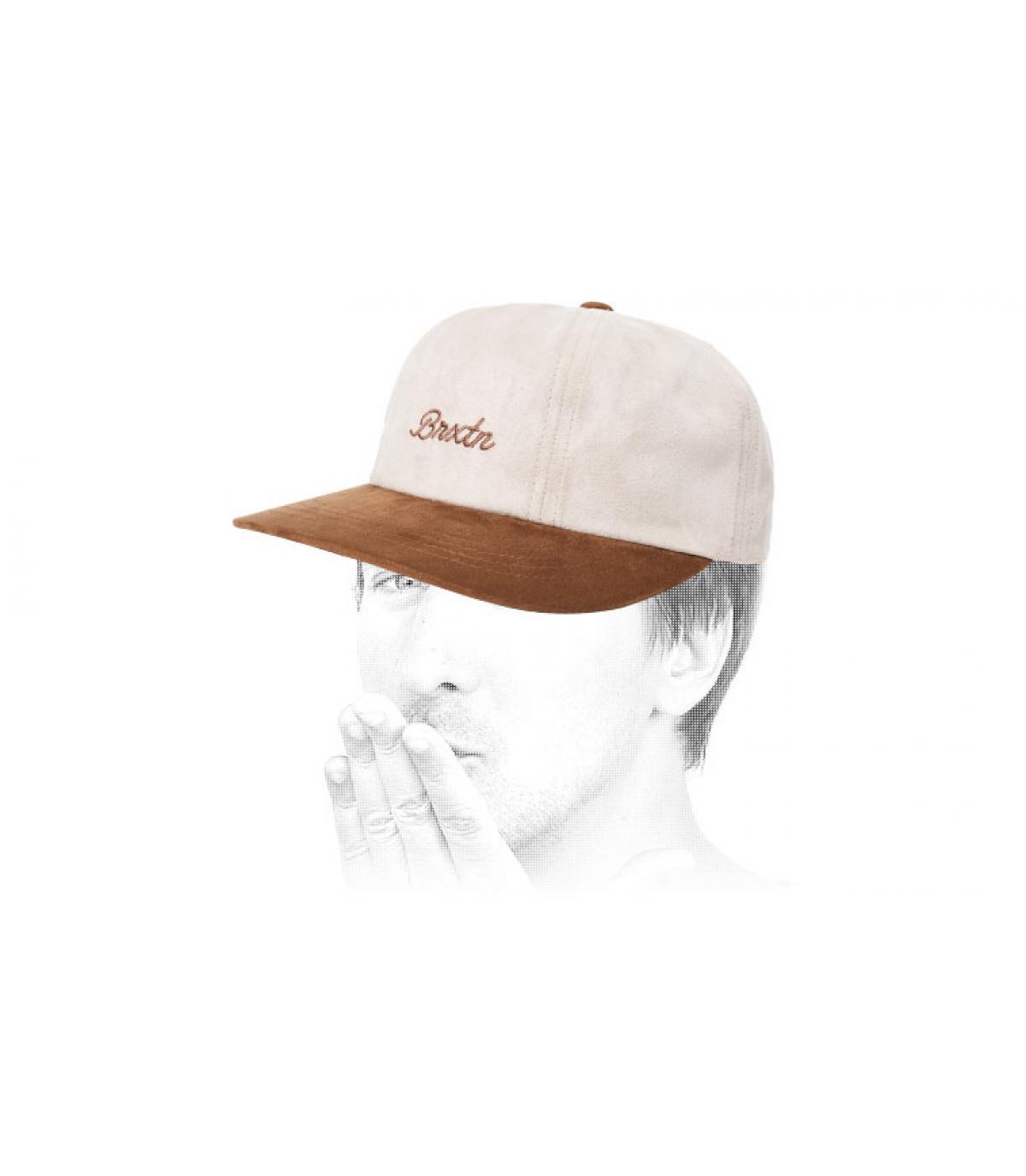 gorra blanco beis