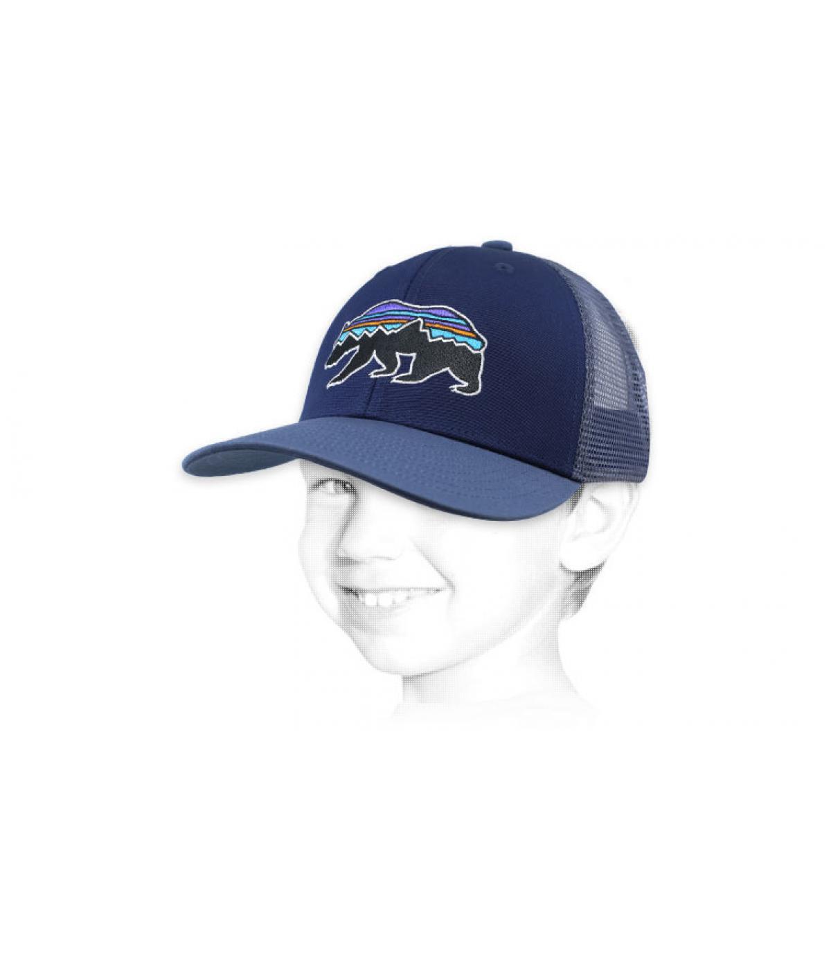 gorra niño Patagonia azul