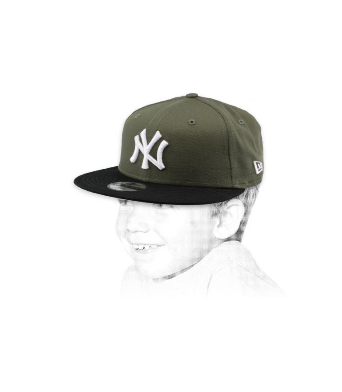 gorra niño NY verde negro