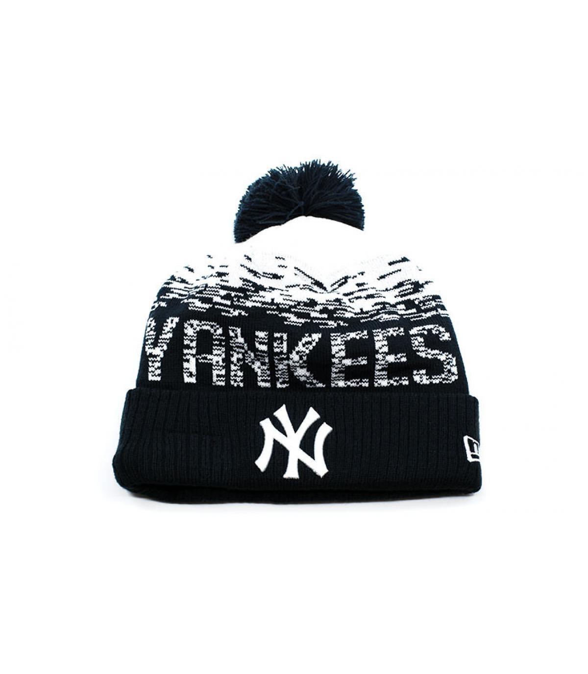 gorro pompóm azul Yankees