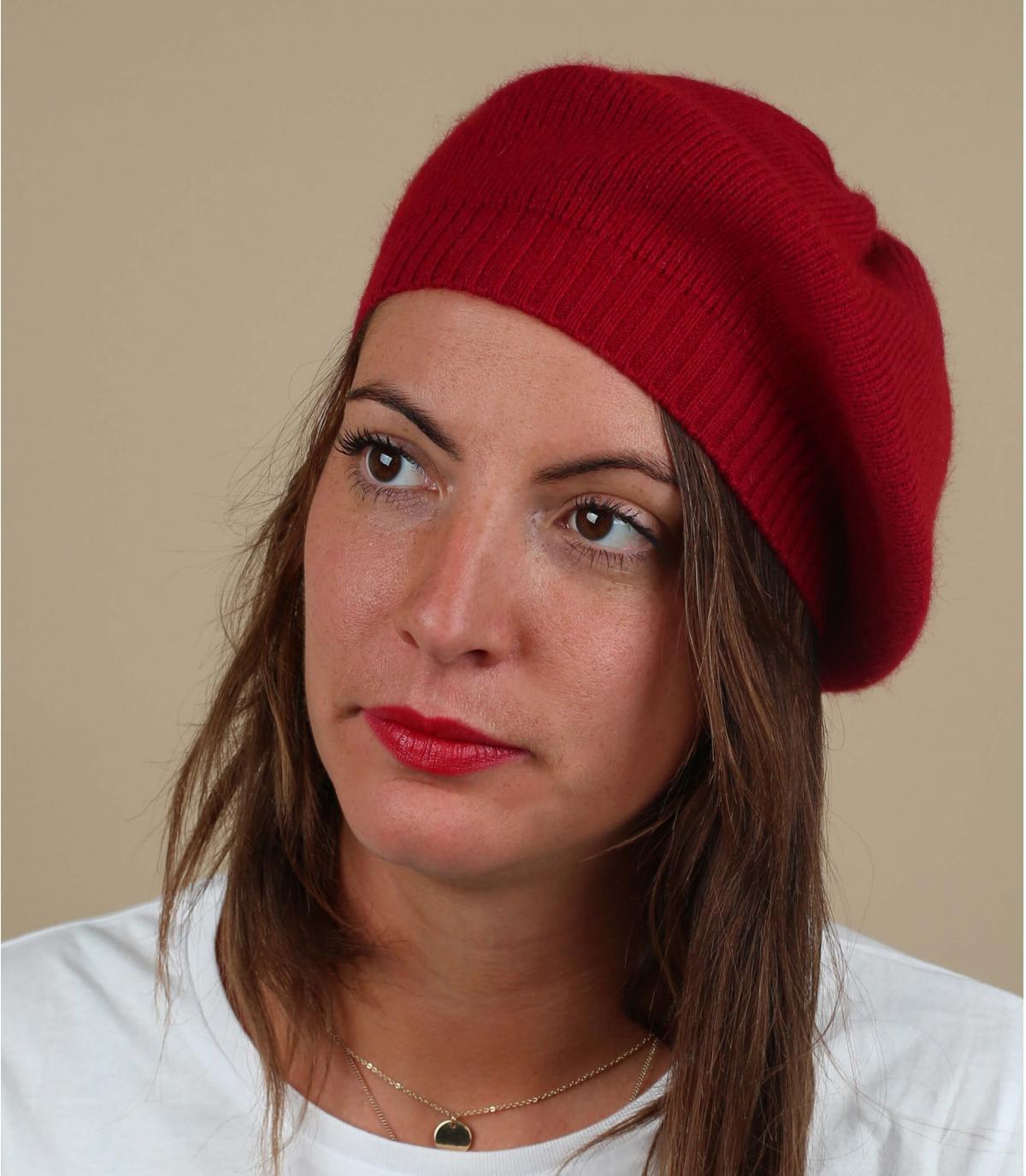 gorra rojo lana