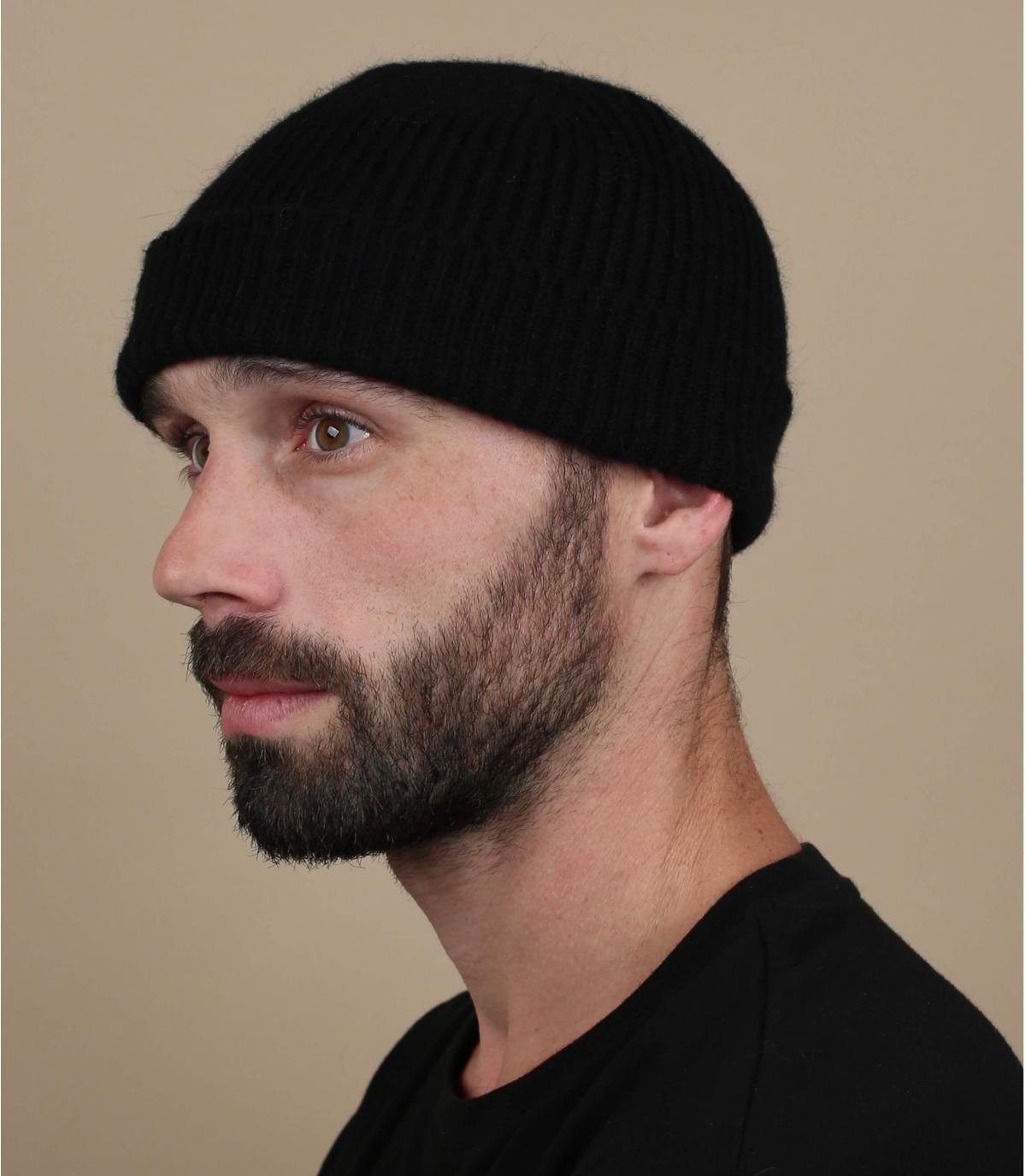 gorro docker negro lana