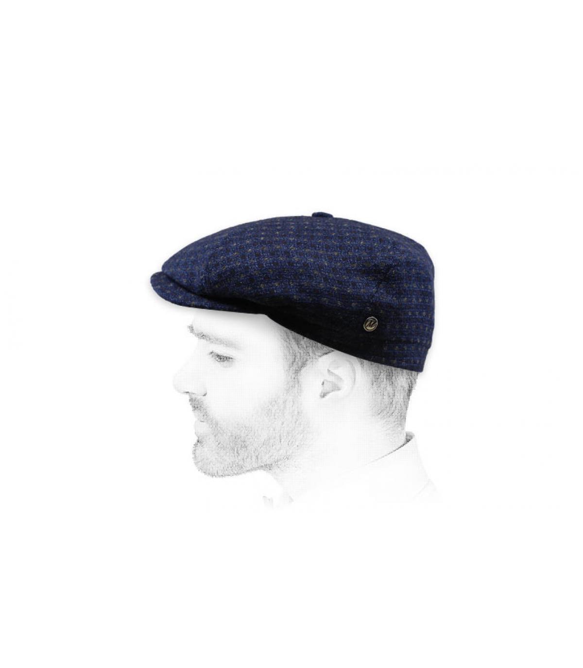 gorra azul marino lana cachemira