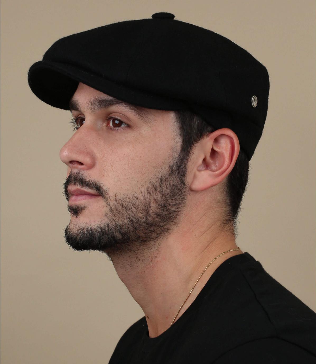 gorra repartidor negro lana