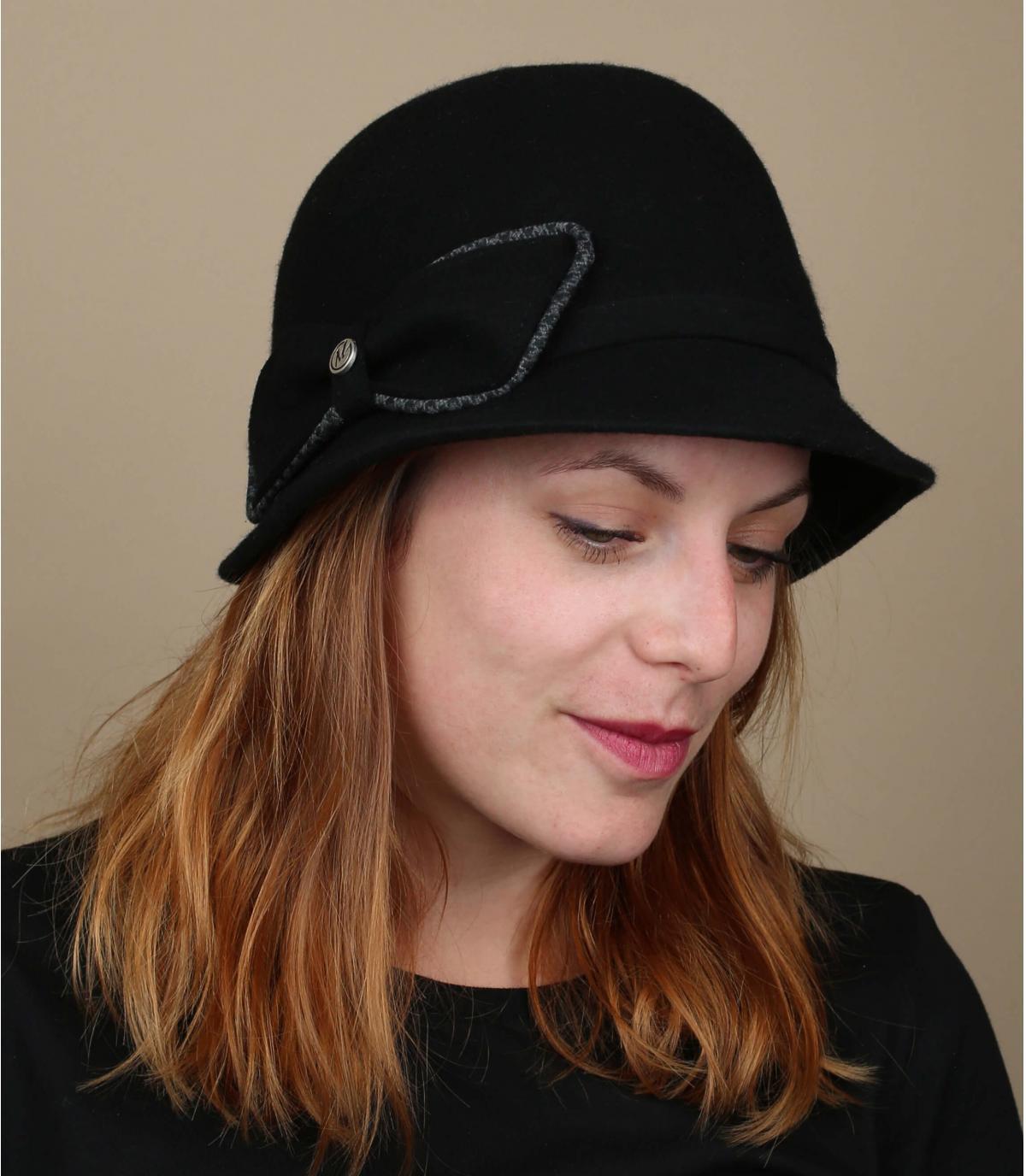 sombrero campana gris fieltro