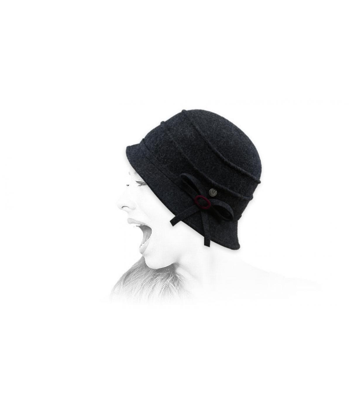 sombrero campana gris lana