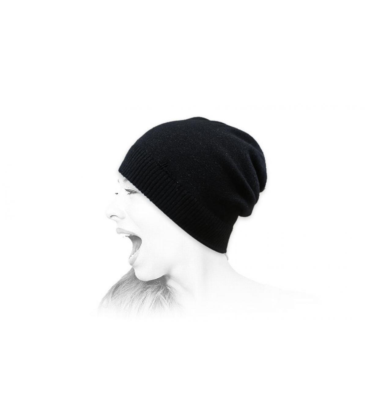 gorro largo negro lurex