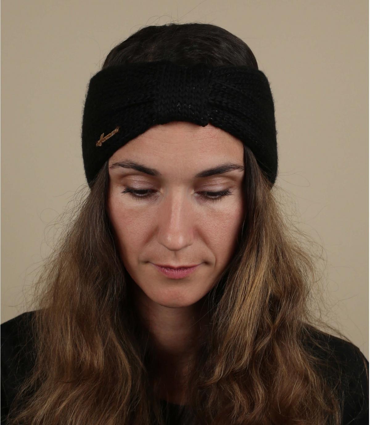 cinta negro lana lurex