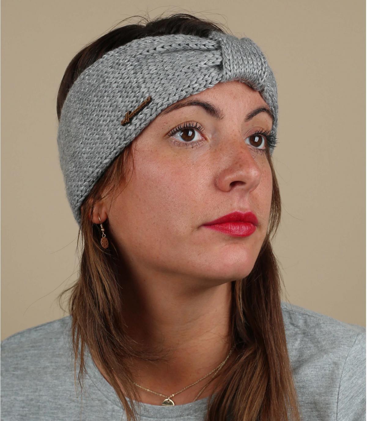 cinta gris lana lurex