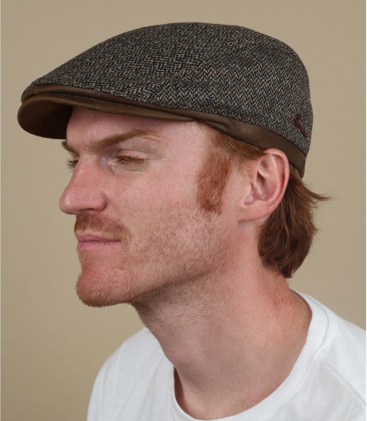 gorra marrón lana cachemira