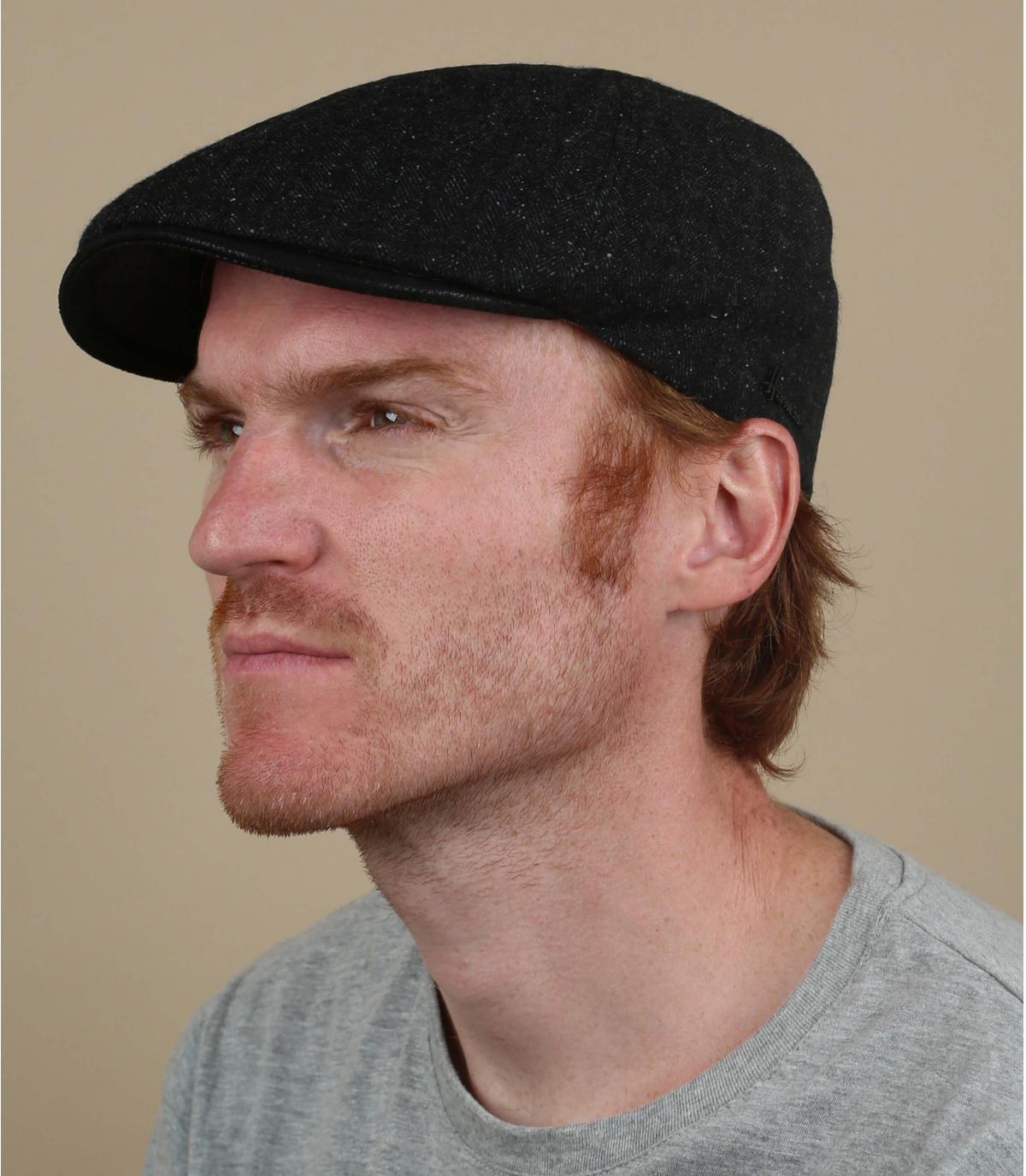 gorra negro lana