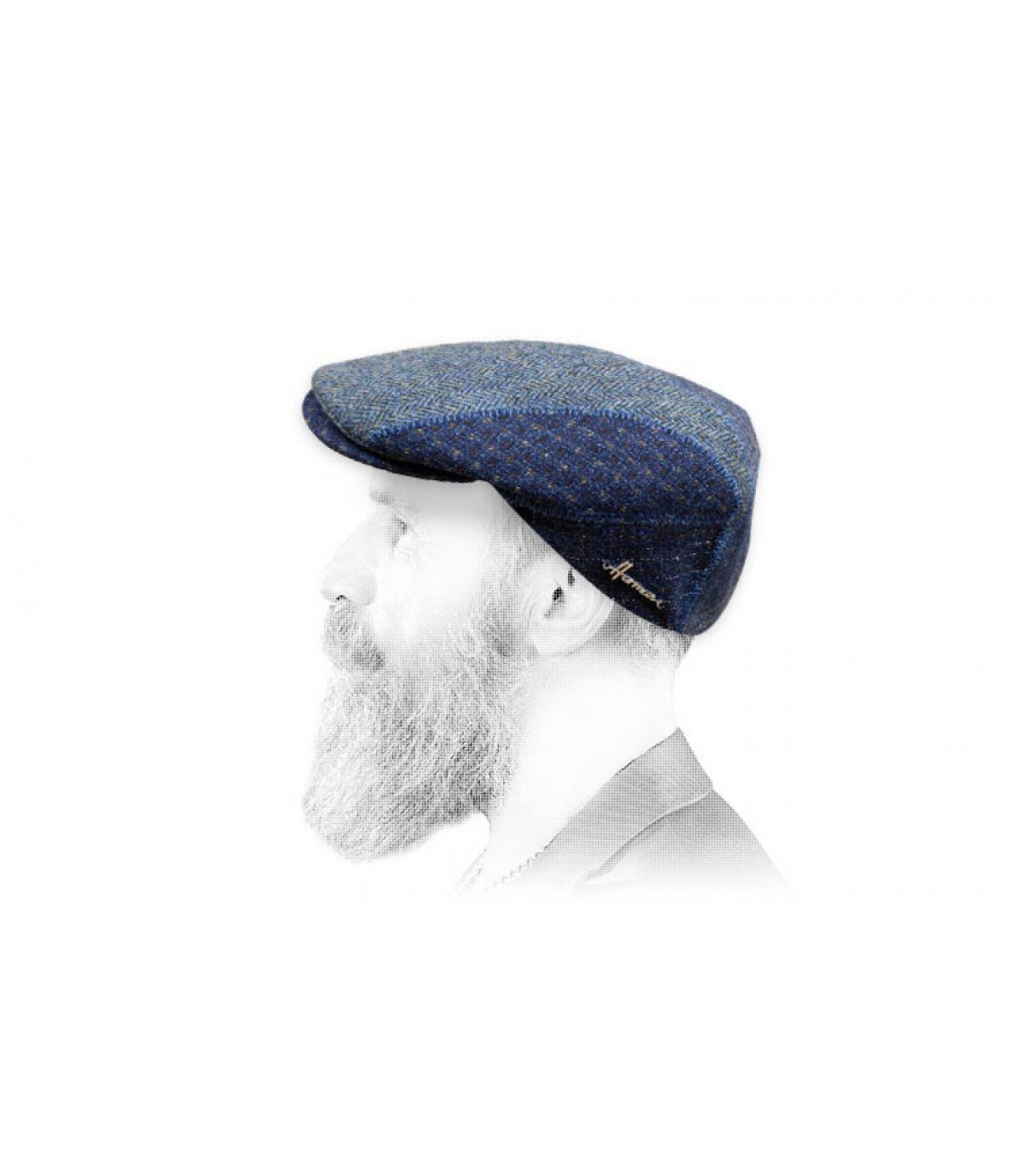 gorra azul patchwork