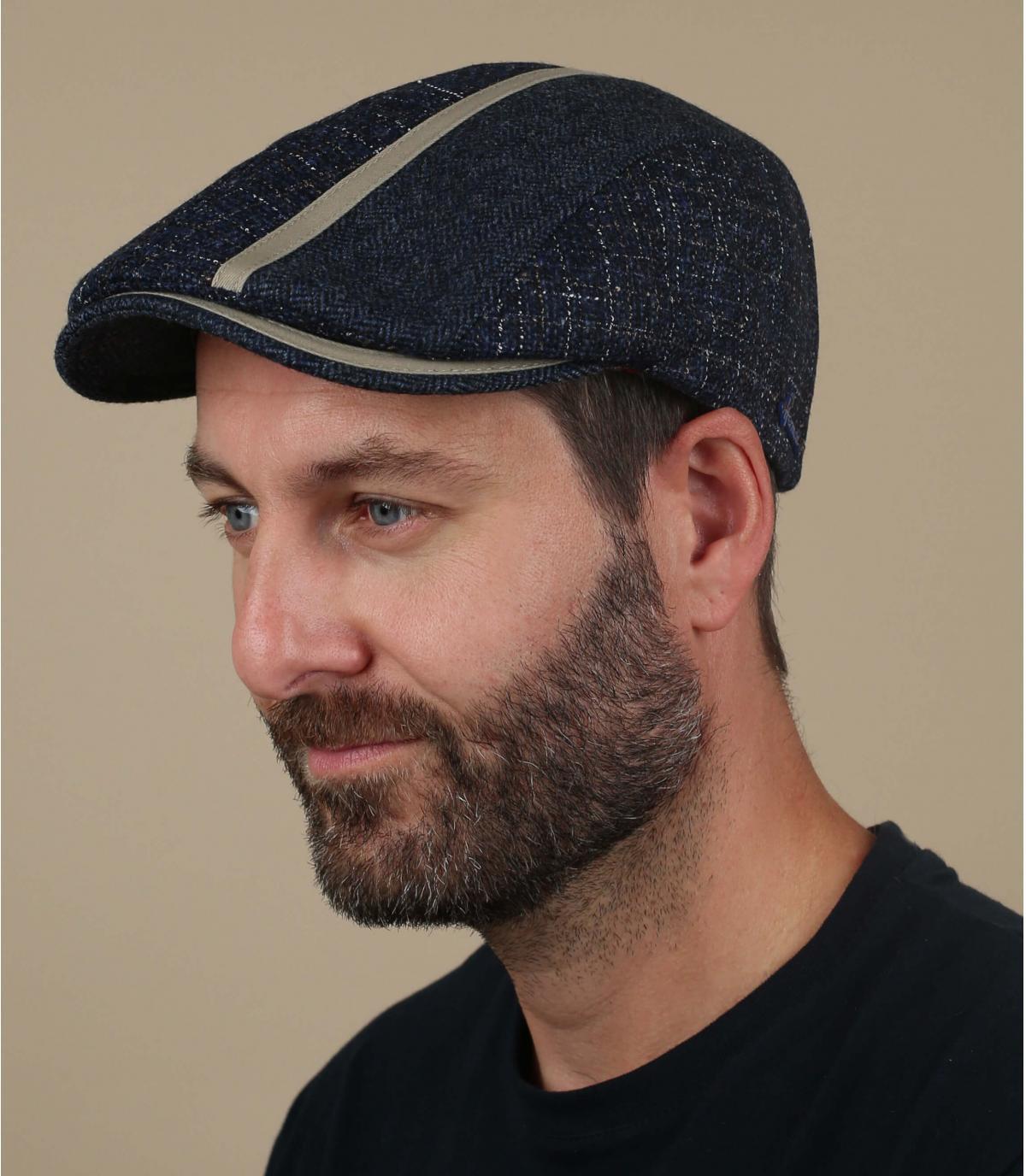 gorra azul lana Herman