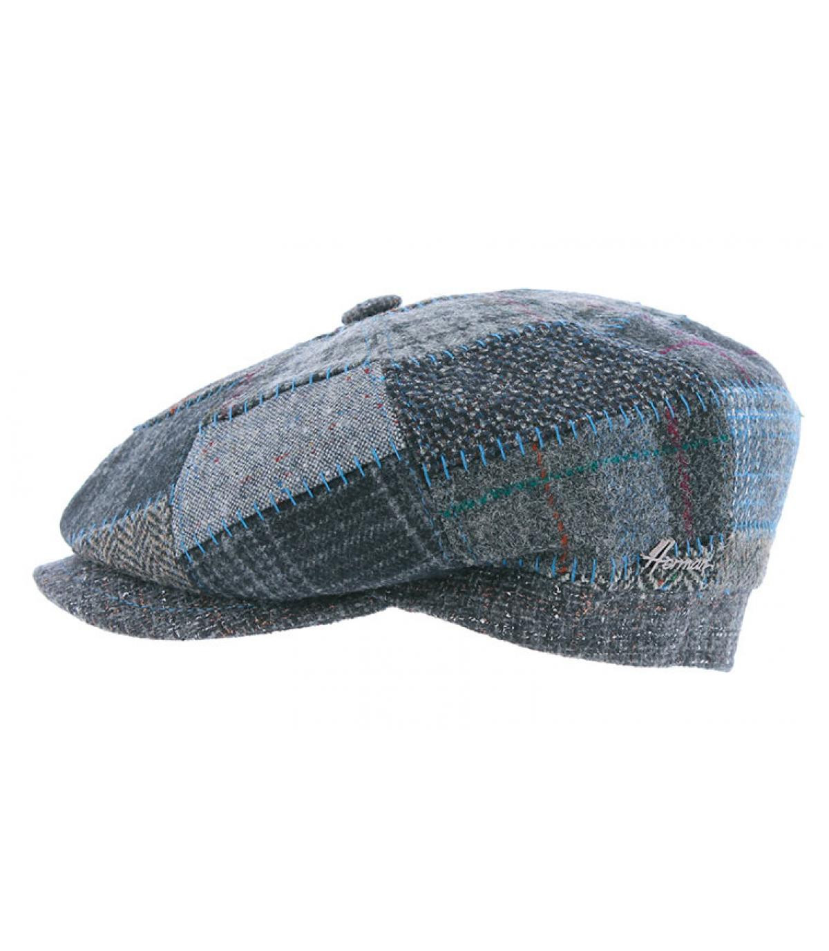 gorra repartidor azul patchwork