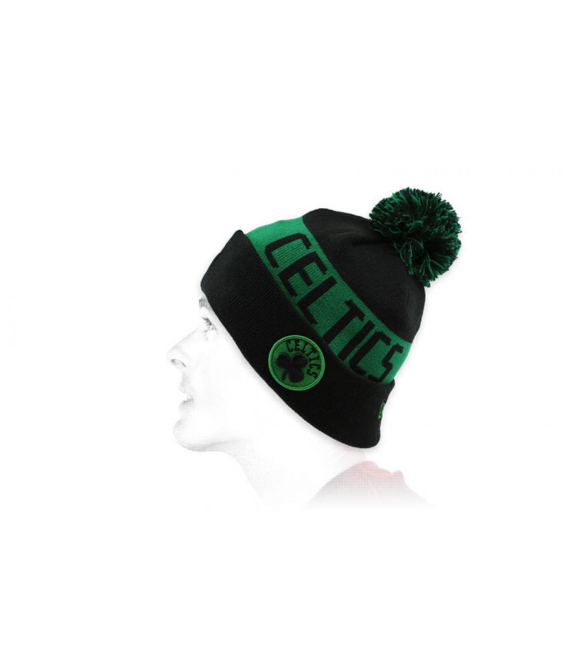 gorro puño Celtics negro verde