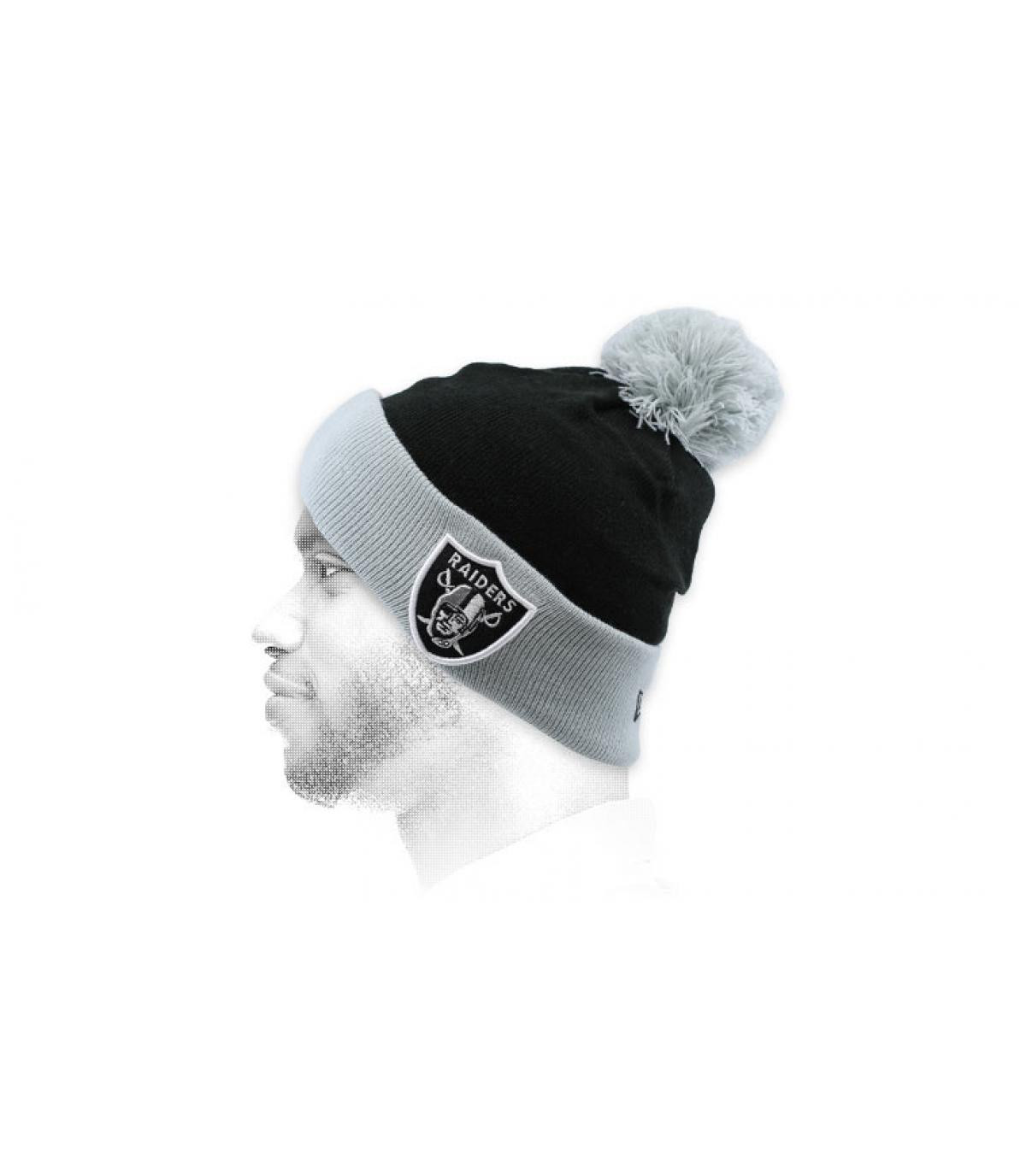 gorro Raiders negro