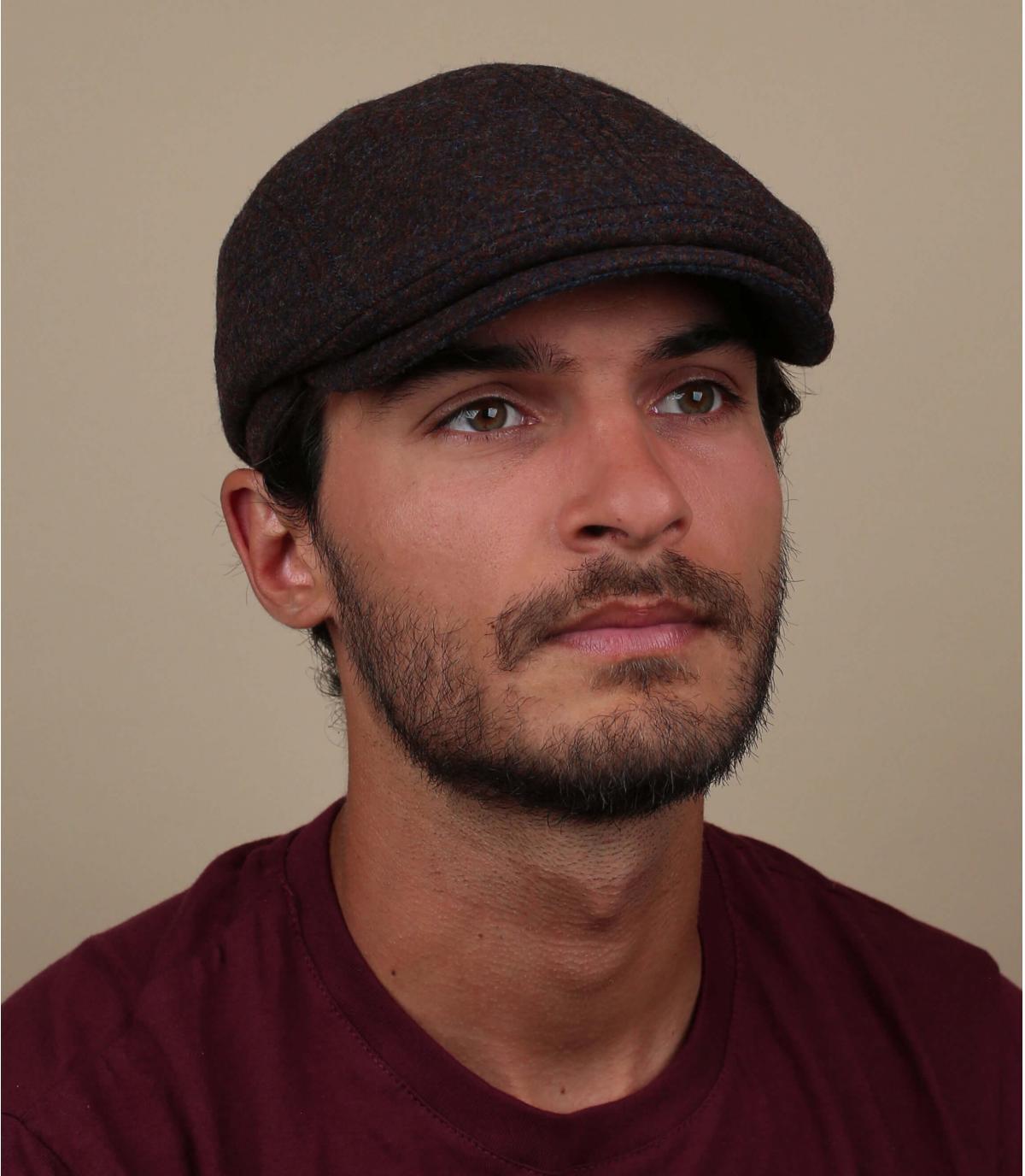 gorra lana marrón