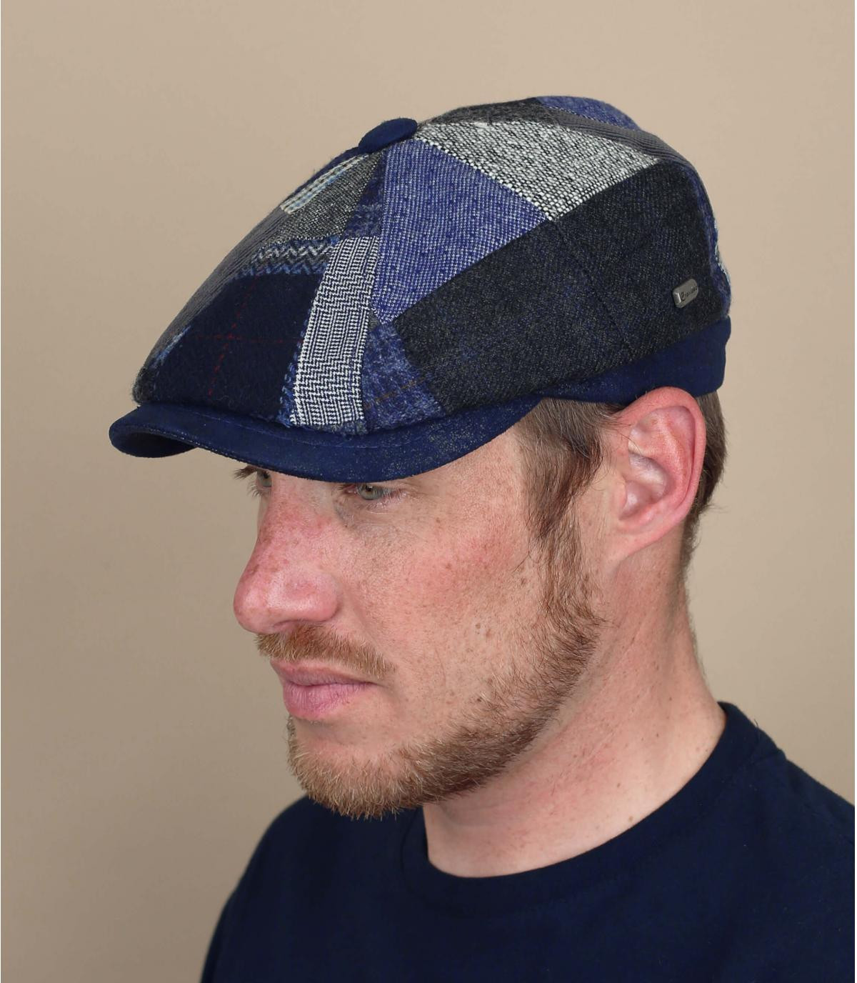 gorra repartidor patchwork azul