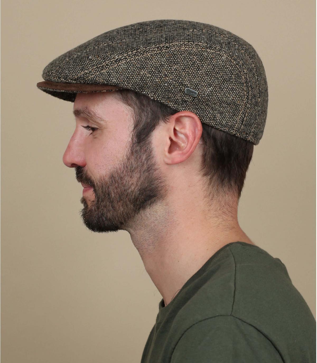 gorra beis lana
