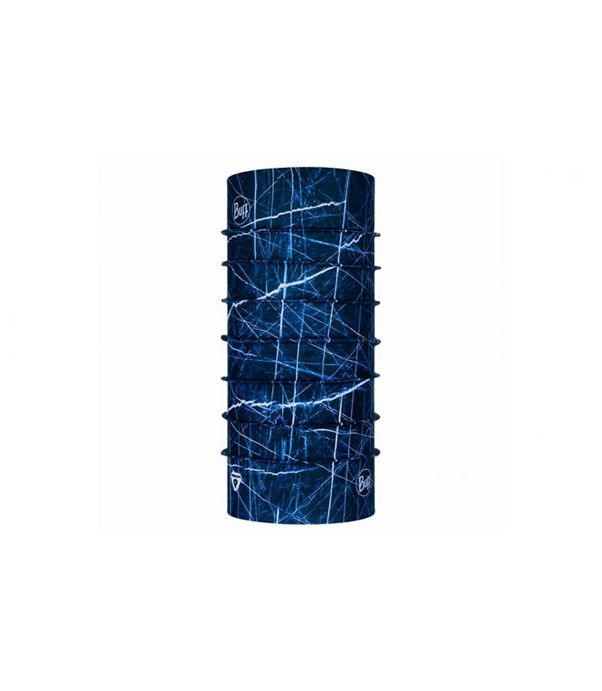 Buff calido espampado azul