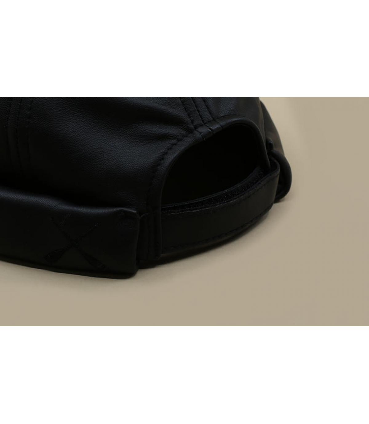 Detalles Miki Leather Waxy black imagen 3