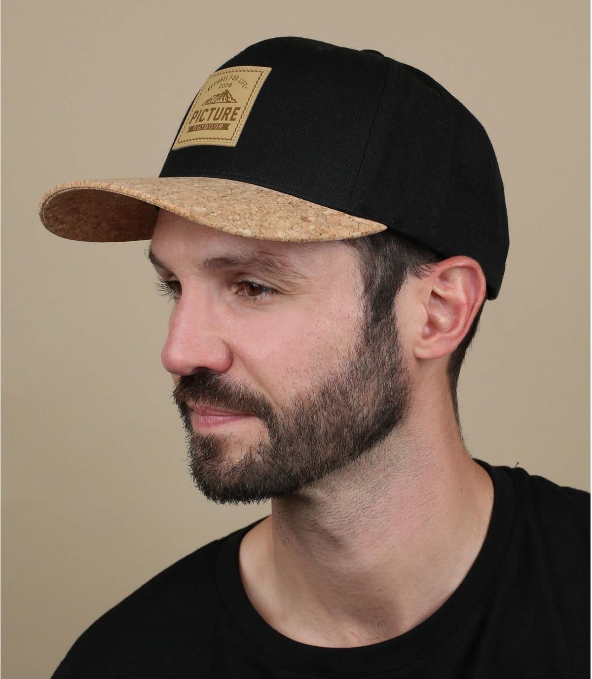gorra negro corcho Picture