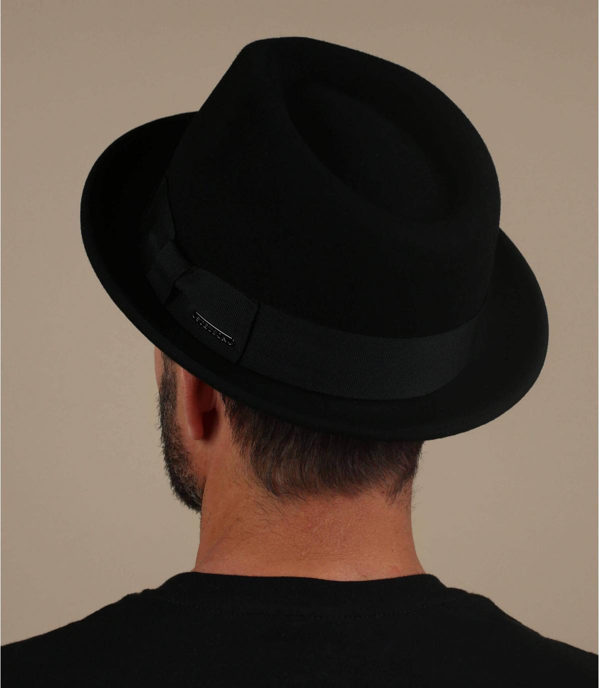 trilby negro cachemira lana