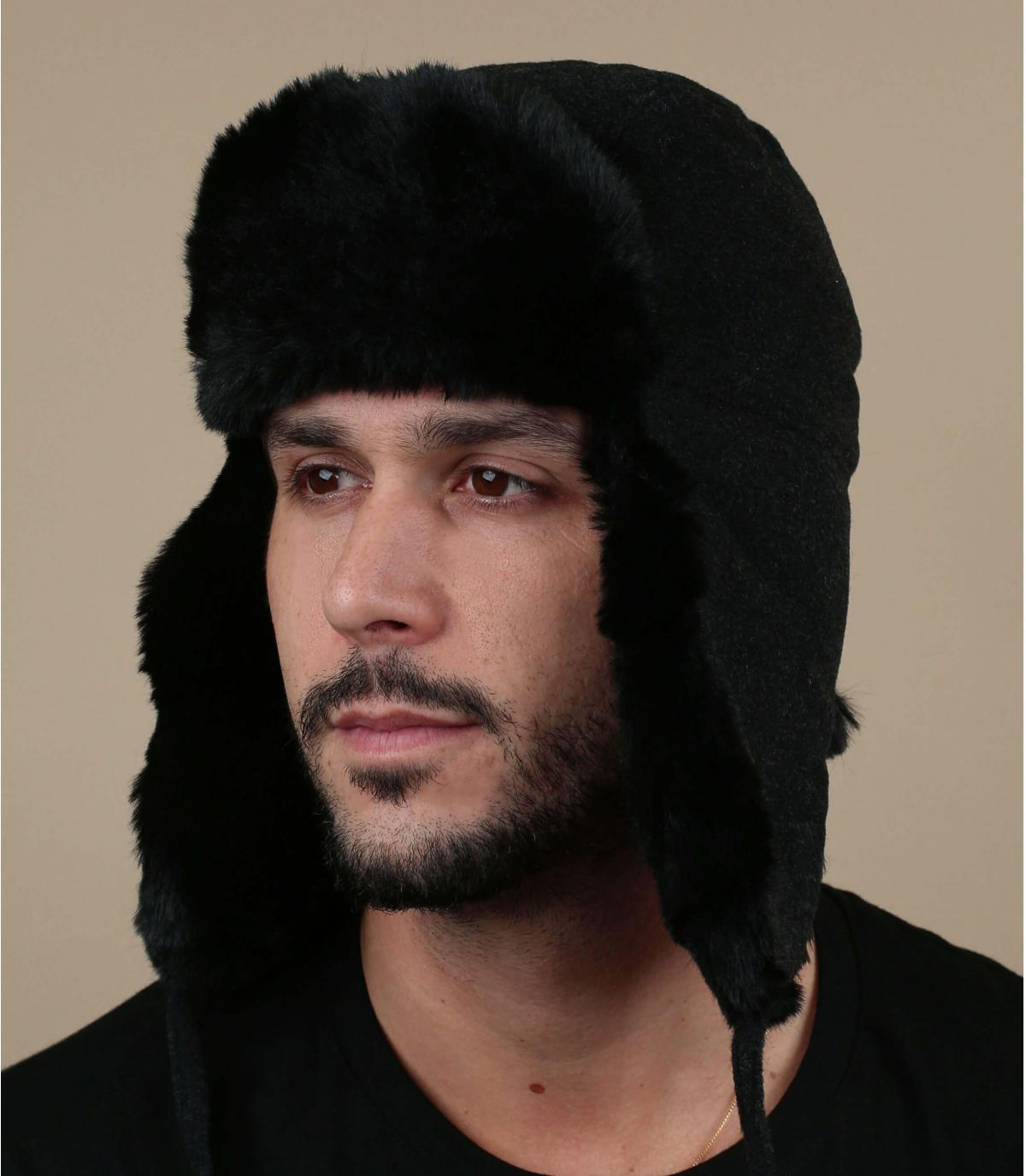gorro ruso gris lana cachemira