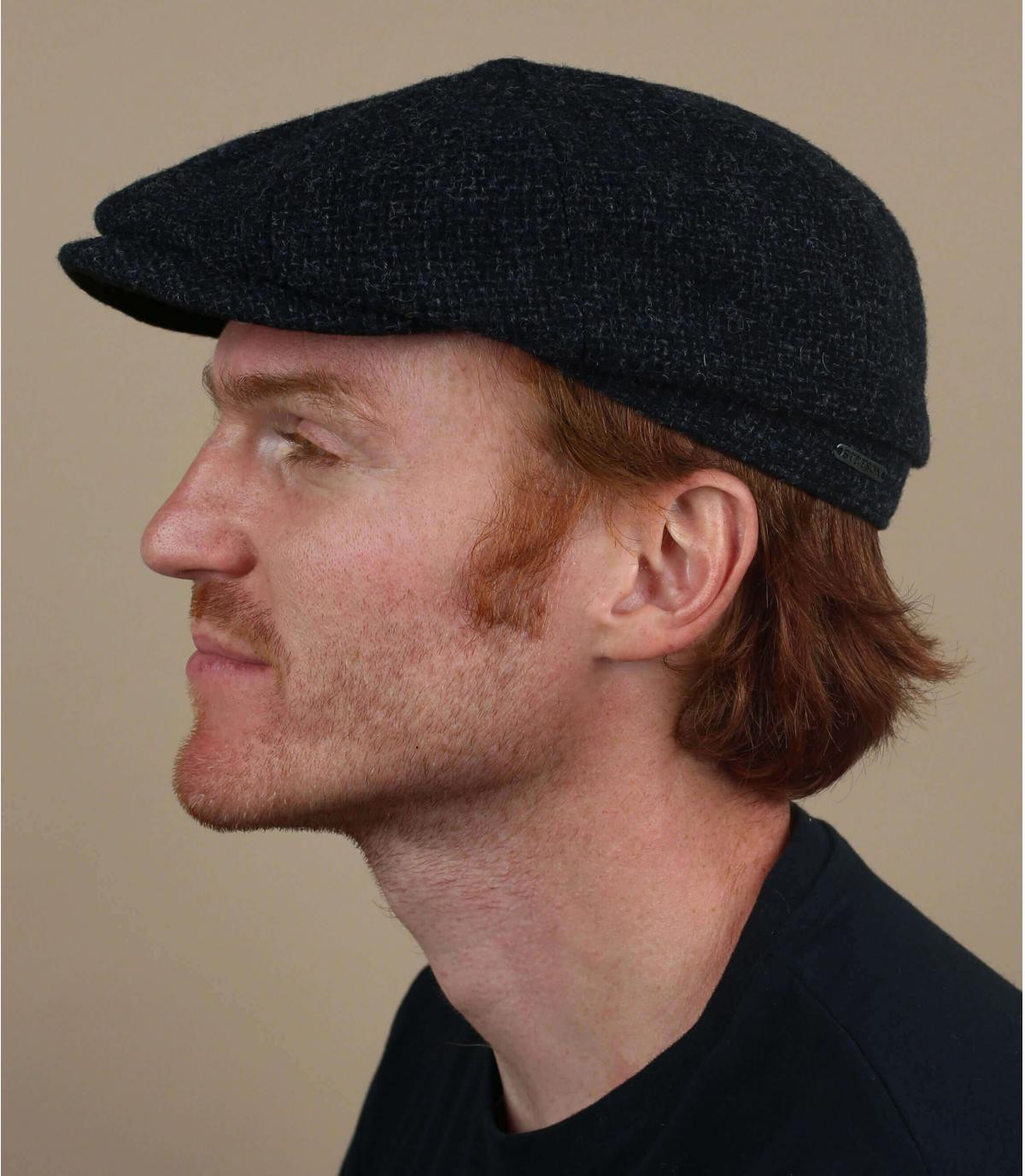 gorra repartidor azul lana Shetland
