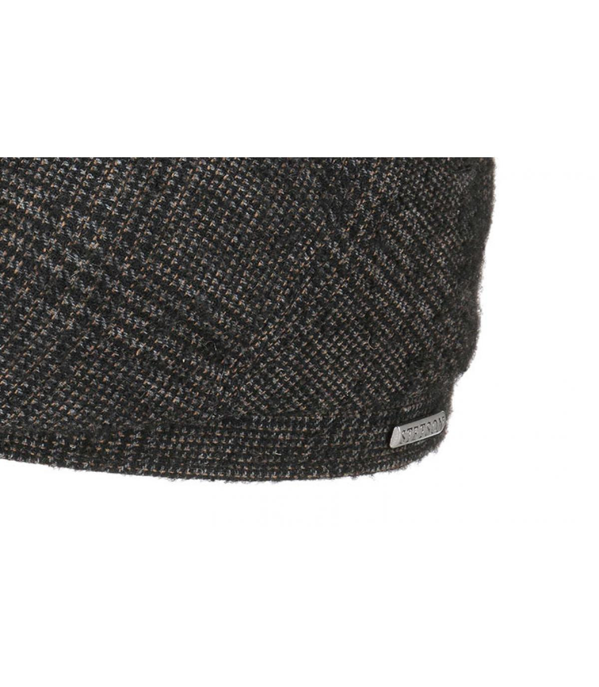 Detalles 6 Panel Wool brown grey check imagen 3