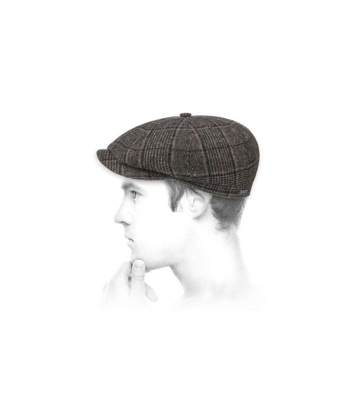gorra repartidor marrón lana
