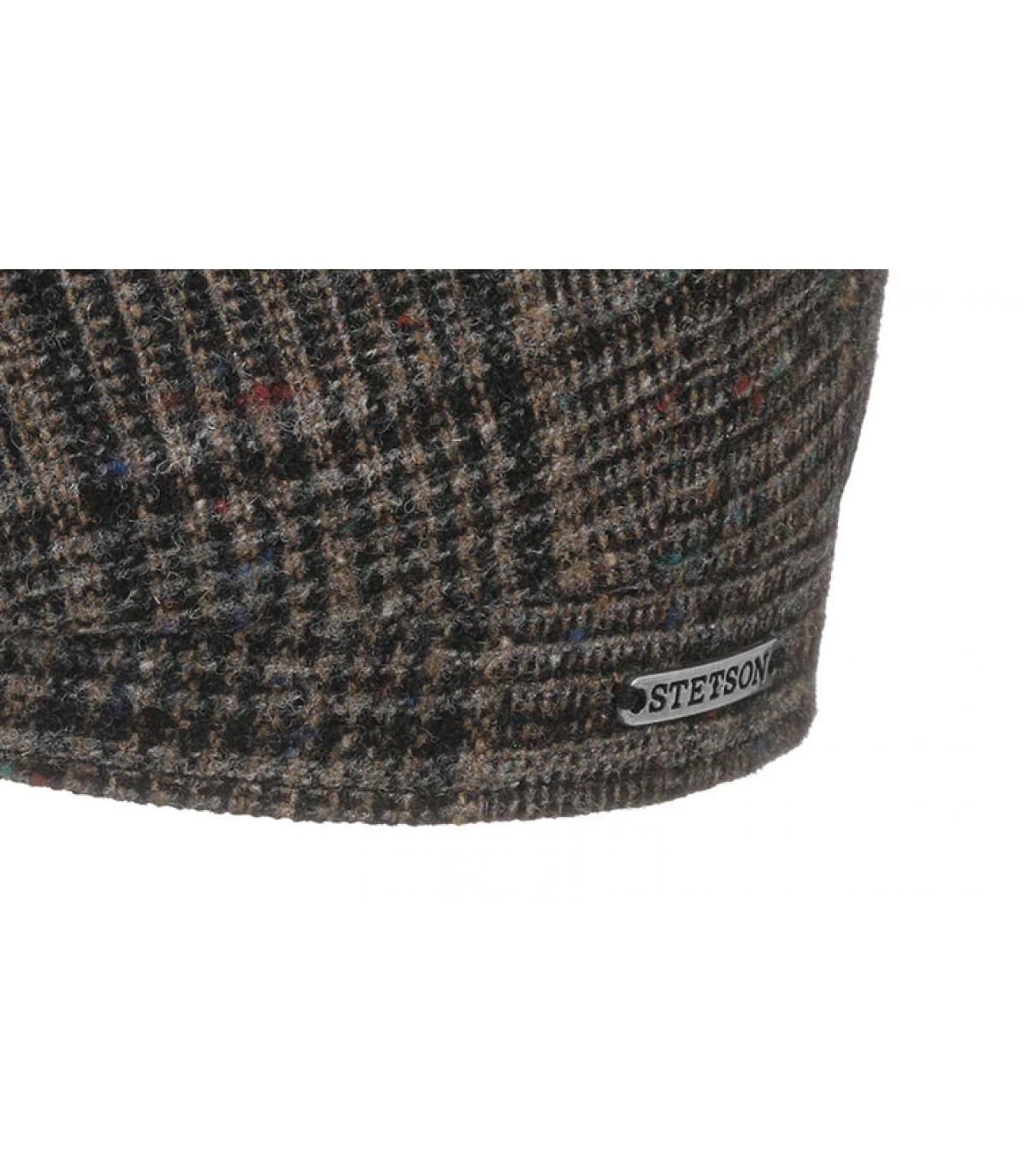 Detalles Hatteras Wool brown check imagen 3