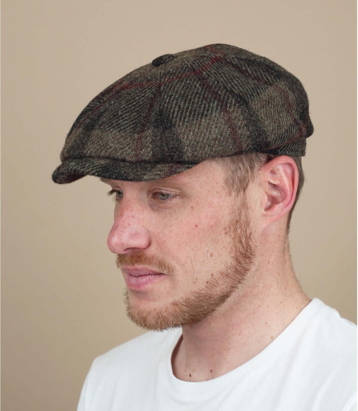 gorra repartidor lana cuadros