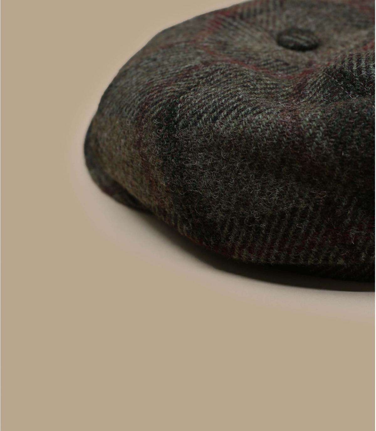 Detalles Hatteras Virgin Wool check beige olive imagen 2