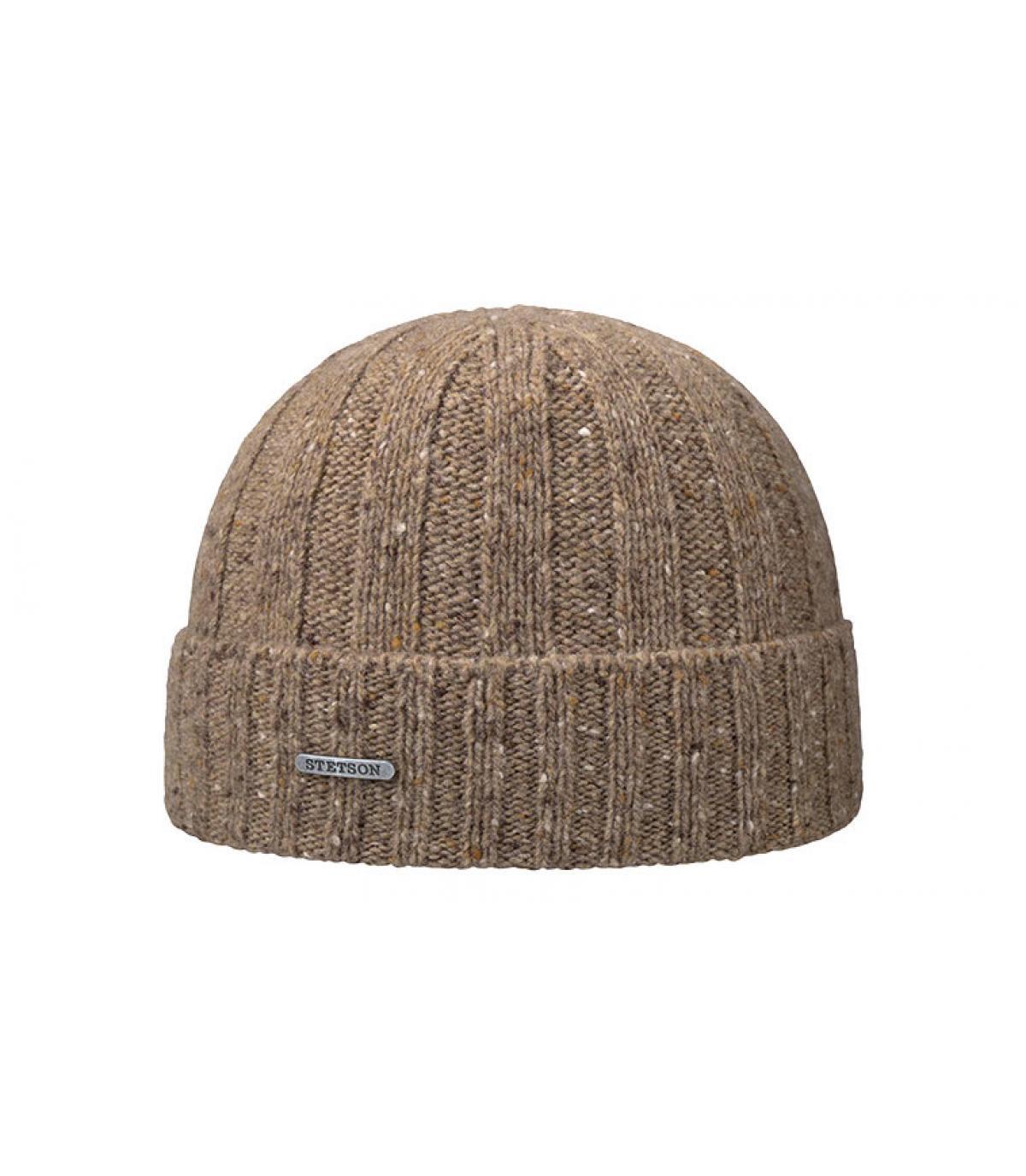 gorro marrón lana puño