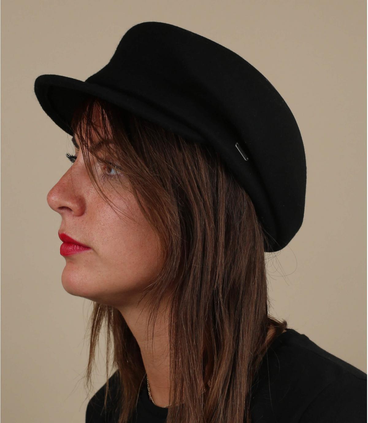 gorra lana negro