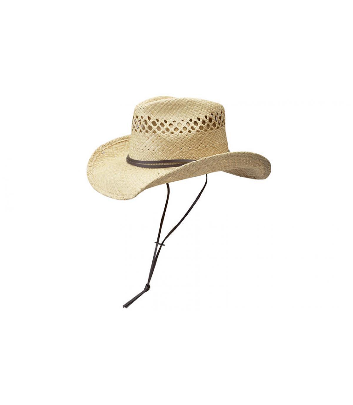 Detalles Sombrero mujer Larimore raffia imagen 3