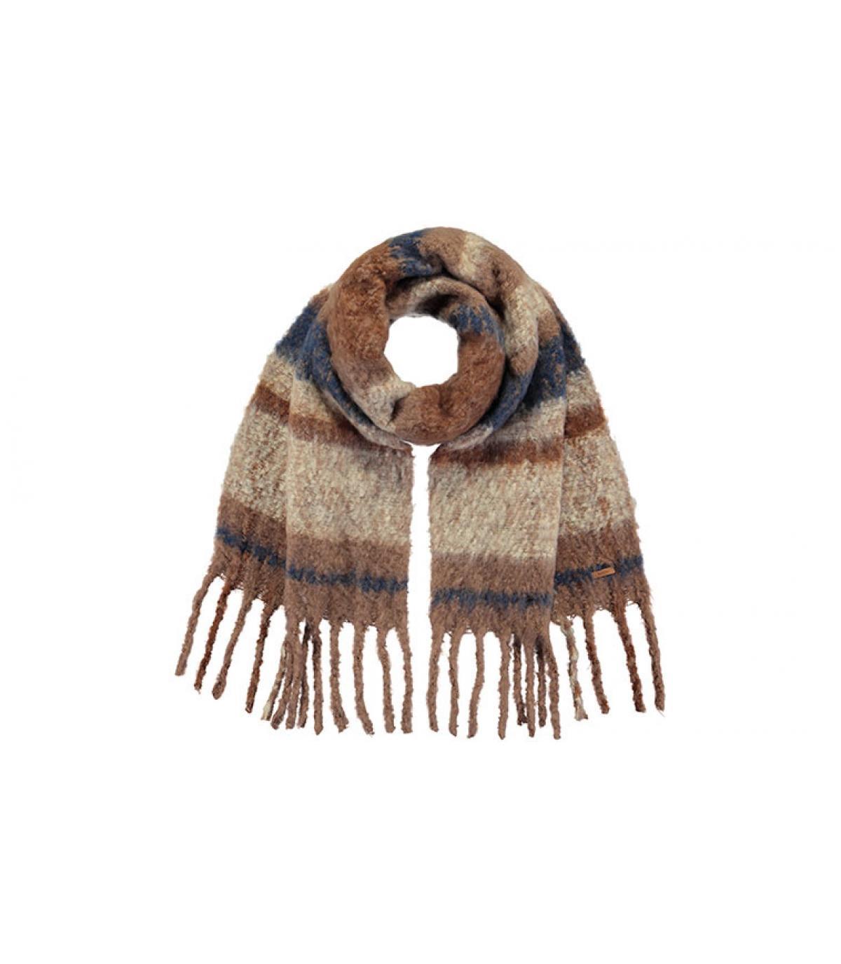 bufanda rayas marrón