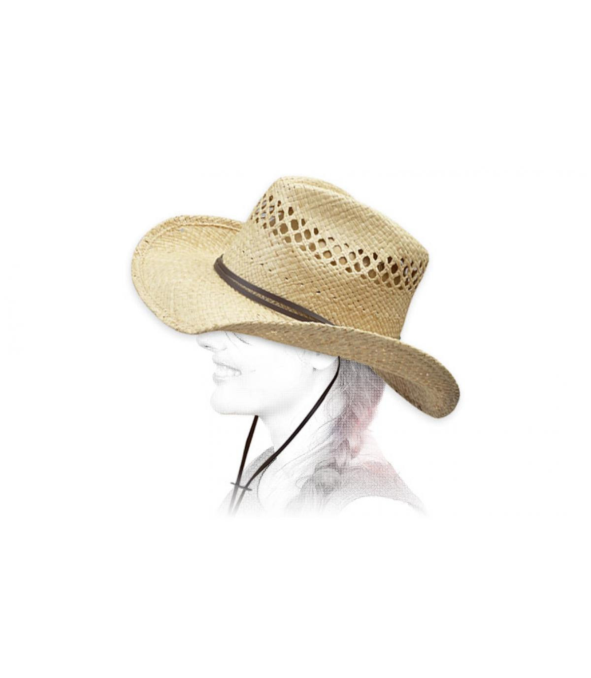 Detalles Sombrero mujer Larimore raffia imagen 4